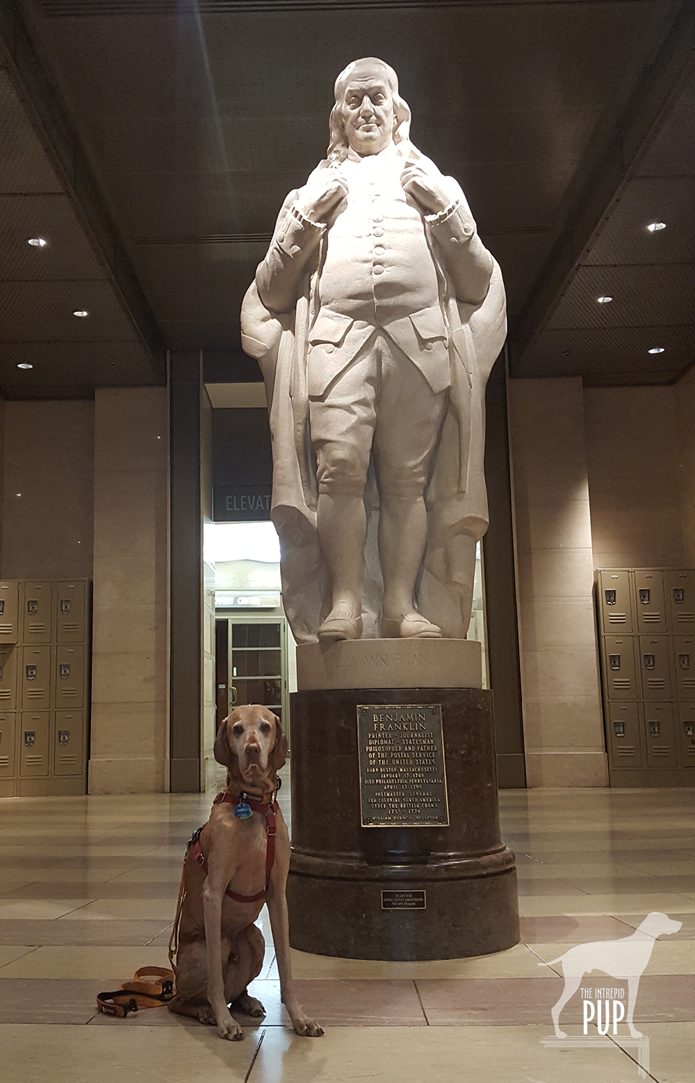 Tavish with Ben Franklin