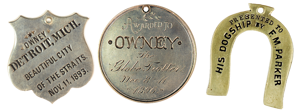Owney's Tags, Images courtesy of the National Postal Museum