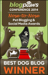 BlogPaws 2014 Nose-to-Nose Awards Winner badge