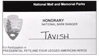 Honorary National Bark Ranger