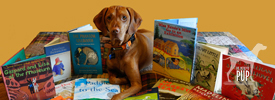 Tavish with children's books