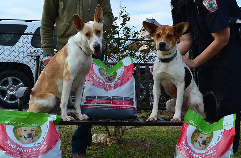 Lucky Pups of Florence County with food donation