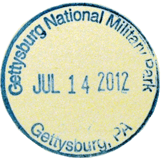 Gettysburg National Military Park stamp