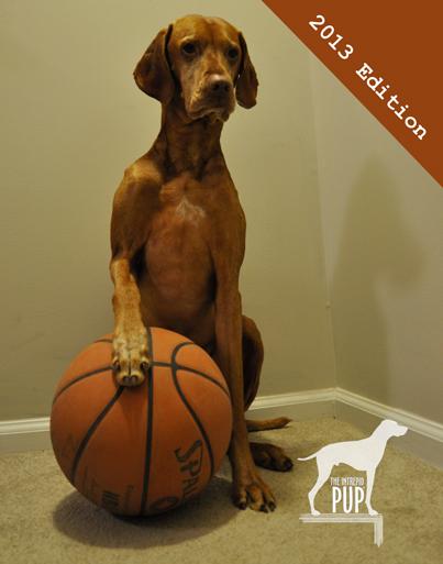 Tavish with a basketball