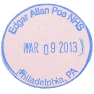 Edgar Allan Poe NHS stamp
