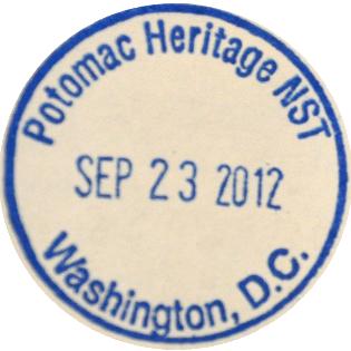 Potomac Heritage National Scenic Trail stamp