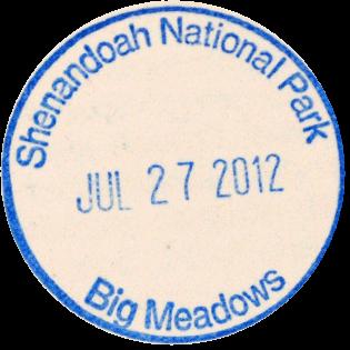 Shenandoah National Park stamp