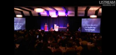 UStream video still of 2012 Awards Ceremony