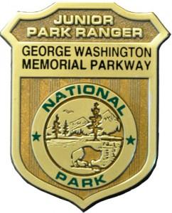 Junior Ranger badge: GW Memorial Parkway