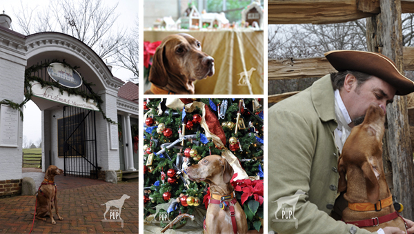 montage of Christmas at Mount Vernon images